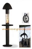 Pièces détachées Pob > Pack parasol chauffant aux granules Pob + 1 trolley + 1 protection vents