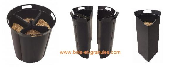 Pièces détachées Interstoves > Réservoir de granulés Pellet'Quadra en 4 parties de 3,5 kg chacunes