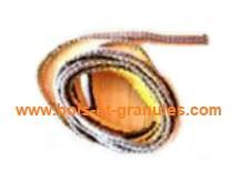 Pièces détachées Piazzetta > Joint tresse plat largeur 10 mm épaisseur 3 mm et long 1 m