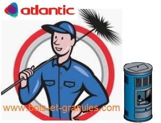 Pièces détachées Atlantic > Entretien poêle  Atlantic à granulés entre 20 et 75 Kms de Guignicourt avec changement des filtres