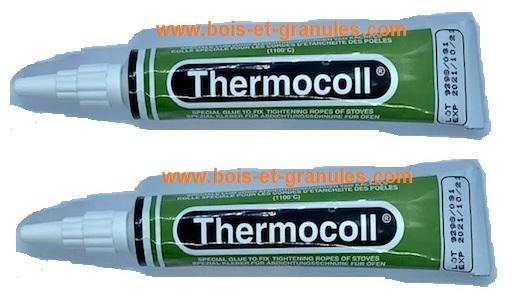 Pratiques & Décoration Colle refractaire 1100 ° en lot de 2 tubes 17 ml pour joints tresse plat ou rond